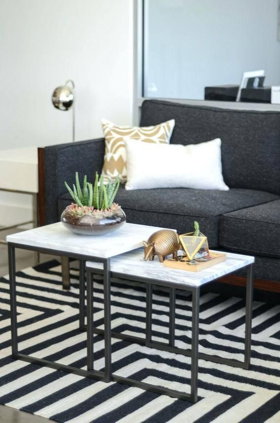 Design Elegant Coffee End Table Occasional Table In Black Side
