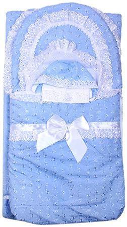 Арго Комплект на выписку  арго, 7 предм., весна-осень, синтепон пл.200 (голубой)  — 2769р.  Рекомендуемый возраст: 0мес Комплектация: конверт, одеяло, уголок, распашонка нарядная, чепчик нарядный, косынка, пеленка (Шитье)