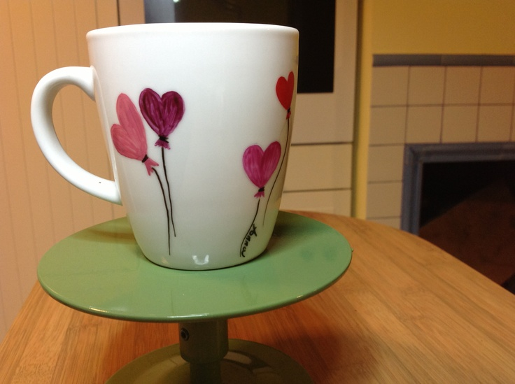 Mug hand paint