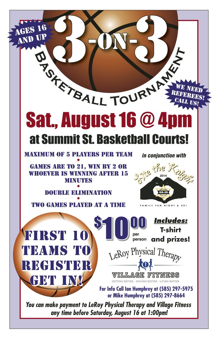 register for our 3 on 3 basketball tournament this goes along with our lite the knight 5k and. Black Bedroom Furniture Sets. Home Design Ideas