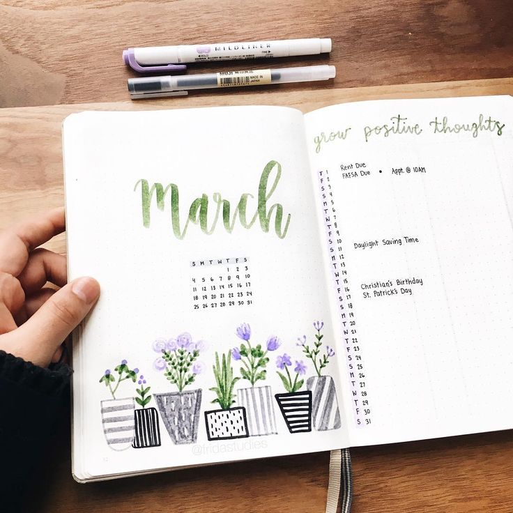 "1,752 Me gusta, 39 comentarios - Frida ♡ (@fridastudies) en Instagram: ""Hello March 🌿💜 Here's another floral monthly spread! Should I keep doing floral themes or should I…"""