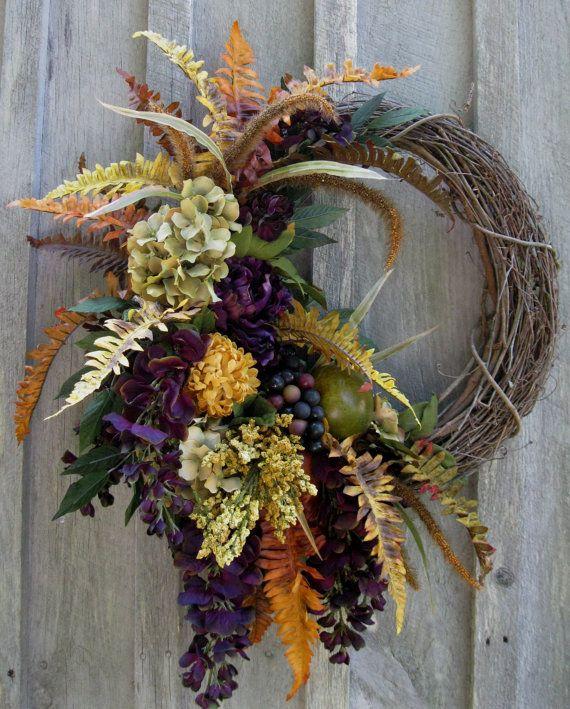 Elegant Tuscany Harvest Wreath by NewEnglandWreath