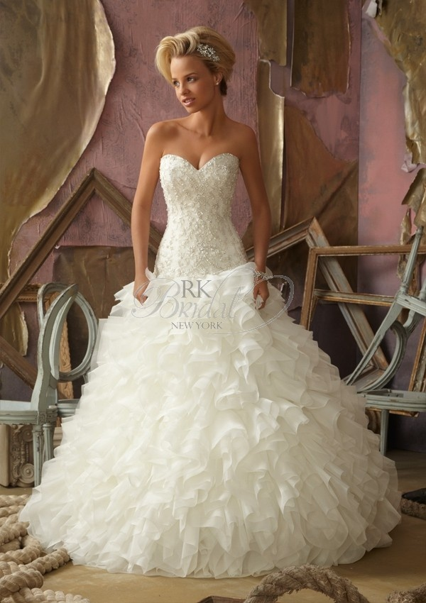 bridal gown from Mori Lee by Madeline Gardner Dress Style 1853 Crystal