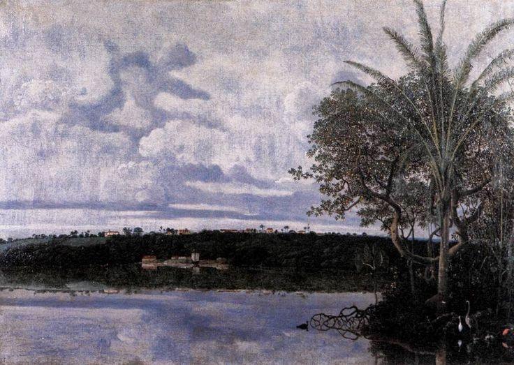 Frans Post - Holandês - Barroco (Brasil Colonial) - Pinturas com Títulos - Pinturas do A'Uwe