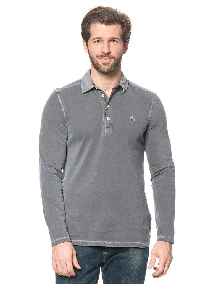 Marc O'Polo - Poloshirt grijs