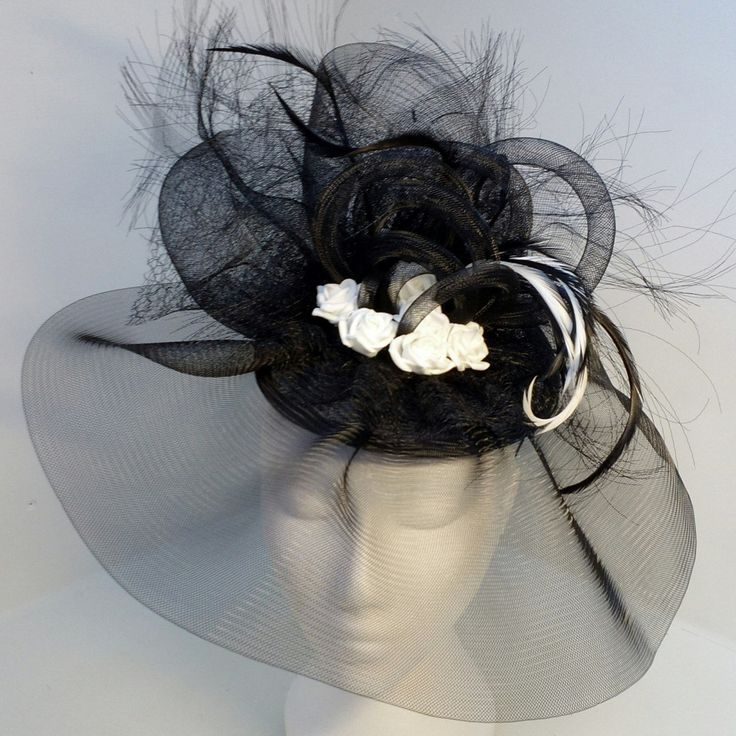 A personal favourite from my Etsy shop https://www.etsy.com/uk/listing/269839495/black-fascinator-for-weddings-races-and