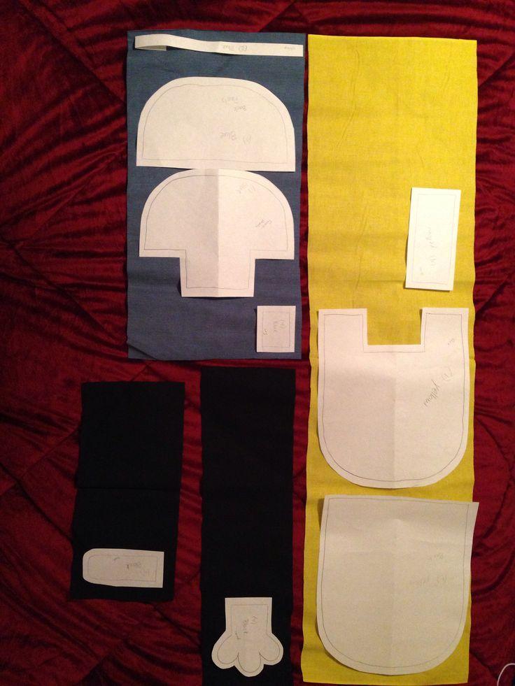 Minion pillow pattern pieces