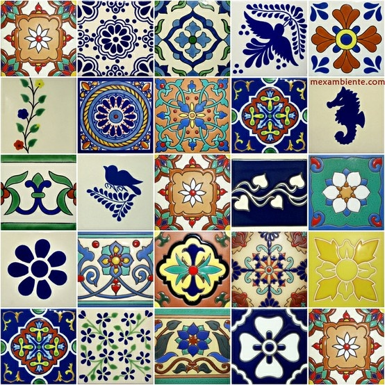 mexican tiles in Europe - Mexambiente mexikanische Fliesen, bunte Fliesen, Dekorfliesen, fürs Bad, Küche, usw. www.mexambiente.com