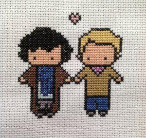 johnlock cross stitch!