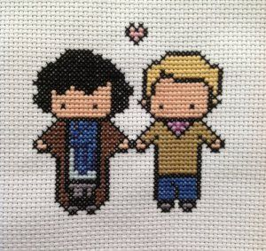 johnlock cross stitch!