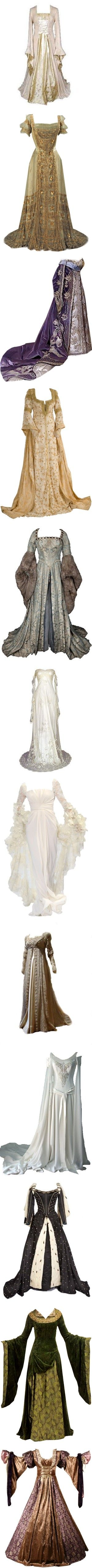 Victorian & Midevil Dresses by shaelyn-gibson on Polyvore featuring dresses, gowns, medieval, costume, long dresses, vestidos, victorian, victorian dress, brown dress and victorian gown