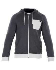 Hurley Upside Zip Fleece Hoody Grey