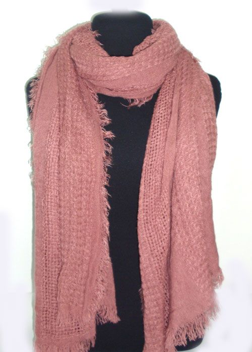 very soft single coloured scarf, differnt patterns of knitting_fashion woman accessories.