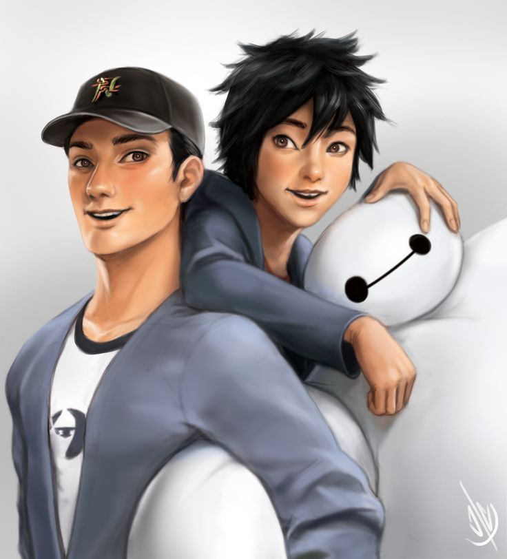 "Hamada Bros + Baymax! by jaeon009.deviantart.com on @deviantART - From ""Big Hero 6"""
