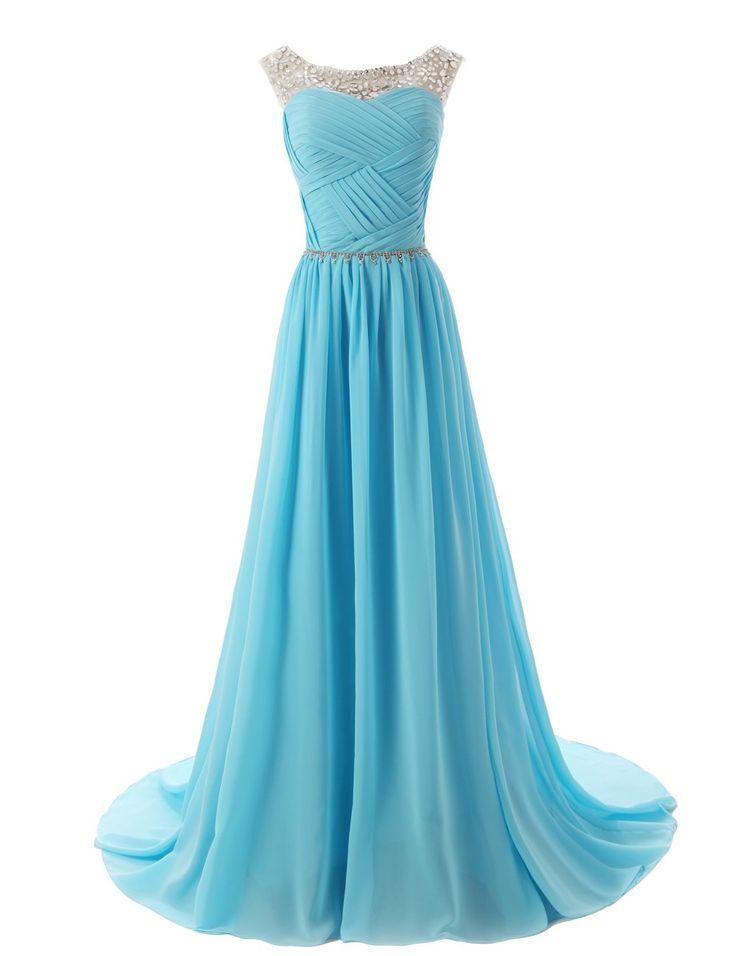 Dressystar Herzform Chiffon Lange Brautjungfernkleid Perlen Ballkleid: Amazon.de: Bekleidung