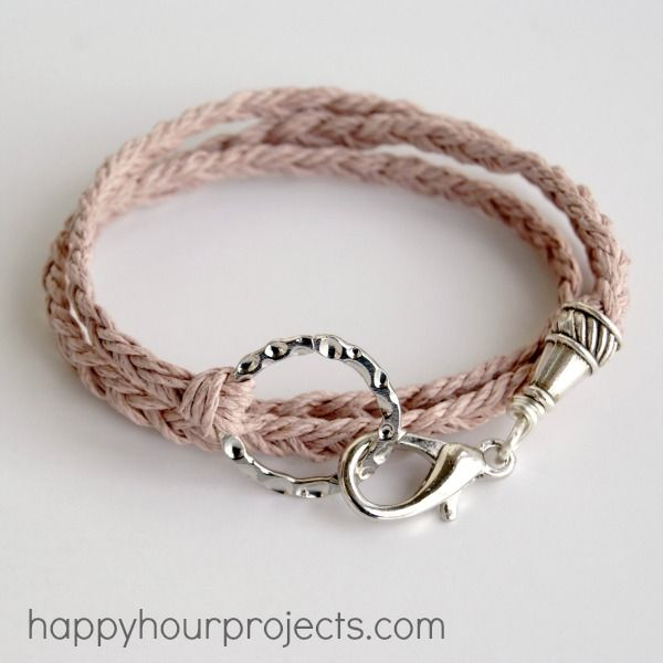 Woven Wrap Bracelet. Would love this made with leather.