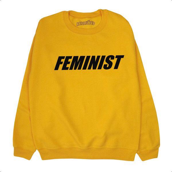 Suéter de feminista / sudadera / puente / activista / negro amarillo... ($22) ❤ liked on Polyvore featuring tops, hoodies, sweatshirts, sweaters, shirts, sweatshirt, shirt top, yellow top, yellow sweatshirt and yellow shirts