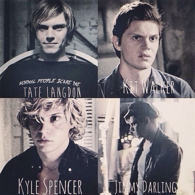 All of his 4 seasons characters - American Horror Story: Murder House, Asylum, Coven, and Freak Show