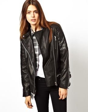 ASOS leather jacket (and other things perfect for airport life -- http://chicityfashion.com/airport-style/)