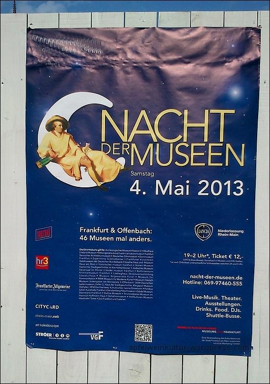 Nacht der Museen in #Frankfurt 2013: Viel Spass! 2016 dann hoffentlich auch mit dem #Apfelweinmuseum in der Altstadt #NdM - #Apfelwein #Bembel