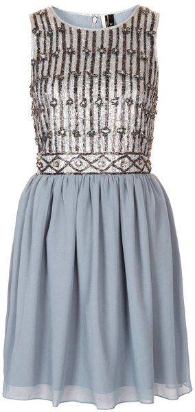 Embellished Bodice Prom Dress - Lyst