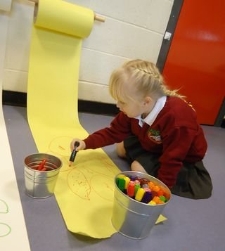 Mark-making roll.We do this in class and it inspires brilliant pictures and mark making!