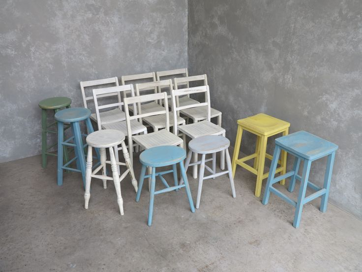 Brighten your kitchen with these lovely hand painted stools and chairs, they will make you wake up and smile! they are also well made and practical. to see our full range of chapel chairs and stools do visit our website.