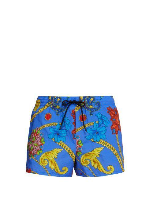 cdc2d638ff VERSACE VERSACE - GIOELLERIA JETÉS PRINT SWIM SHORTS - MENS - BLUE. #versace  #cloth