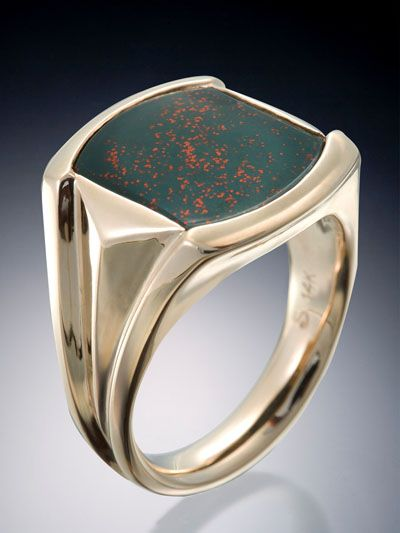 Bloodstone Mens Ring - Skylight Jewelers
