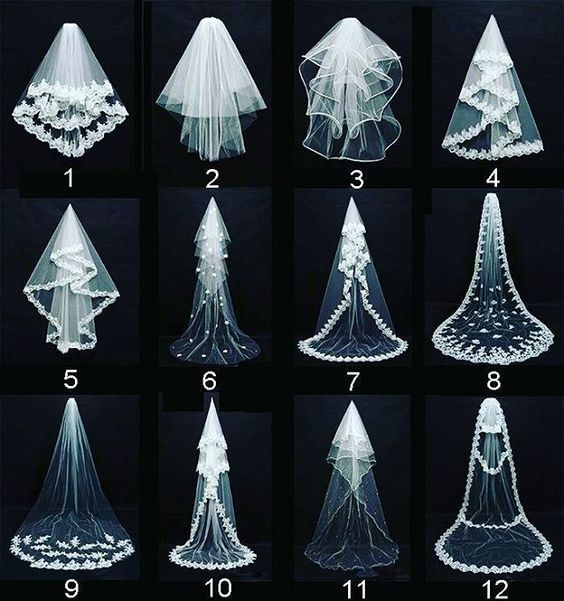 Some veil ideas for your big day…get inspired!! #wedding #whitewedding…