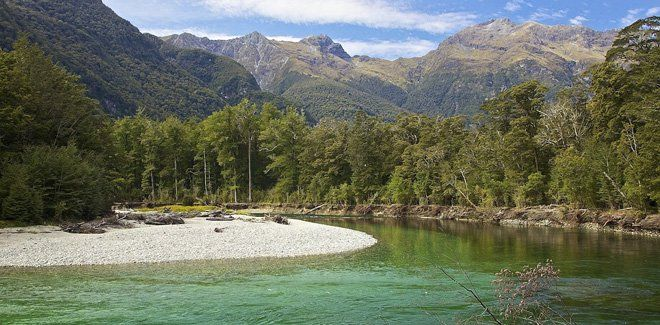 The world famous Milford Track in Fiordland National Park, New Zealand. #NewZealand