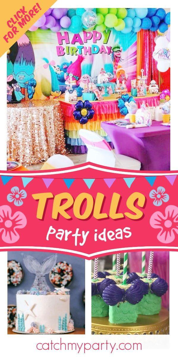 Trolls Birthday Amara Turns 1 Catch My Party In 2021 1st Birthday Party For Girls Trolls Birthday 1st Birthday Parties