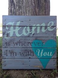 Hand Painted Repurposed Pallet. Wood sign