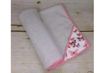 ALGAE & ORGANIC COTTON Cherry Blossom Baby blanket with smart pocket