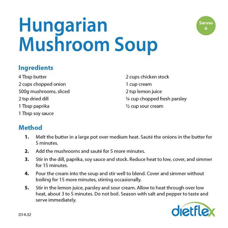 Hungarian Mushroom Soup #HealthyRecipes #dietflex