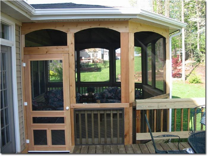Deck franchising cedar finish cedar finish bullnose for Cedar sunroom