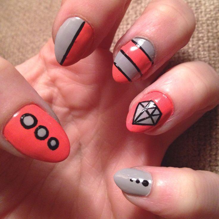 Corral nails. Diamonds again
