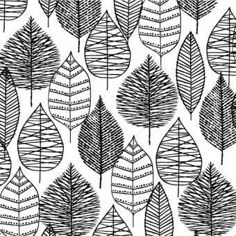 Bark & Branch - Line Leaf in Black