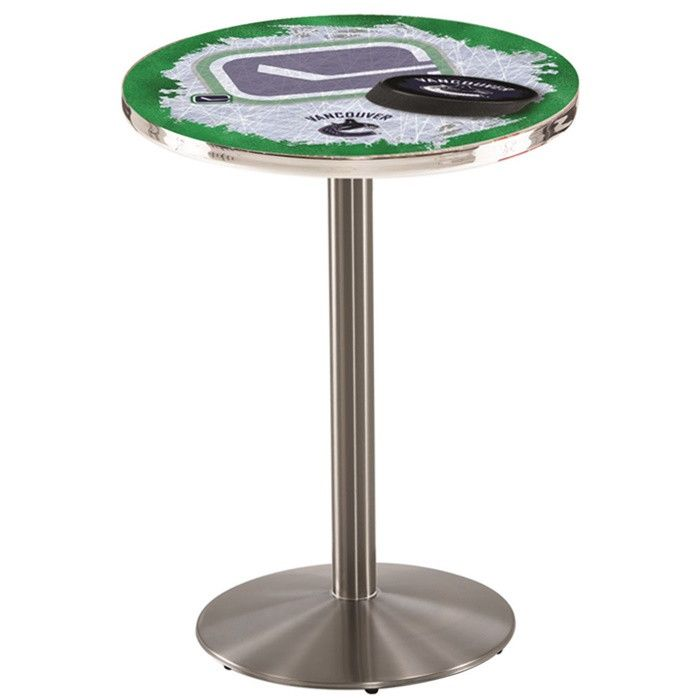 Vancouver Canucks NHL D2 Stainless Steel Pub Table Available In 28 And 36