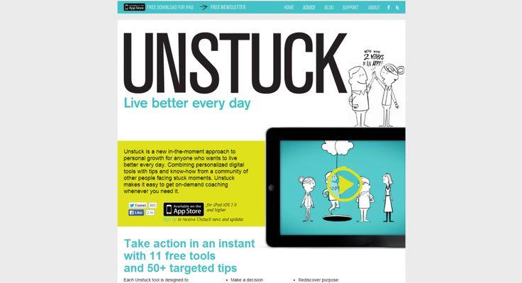 Unique website layouts: Unstuck