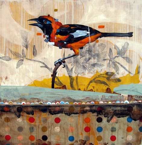 More mixed media bird art~ Frank Gonzales
