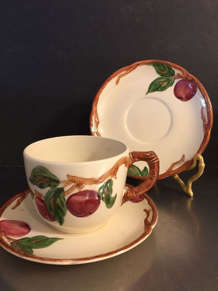 Vintage Franciscan Ware Apple Large Cup 2 Saucers USA 1941-1947 California #FranciscanWare