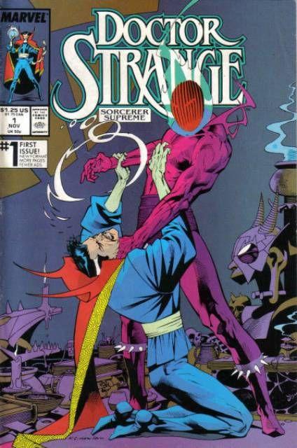 Doctor Strange, Sorcerer Supreme #1 (1988) cover by  Bob Sharen and Kevin Nowlan