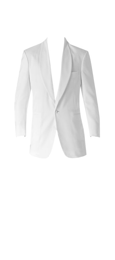 Joseph & Feiss White One-Button Shawl Lapel Dinner Jacket (1795)