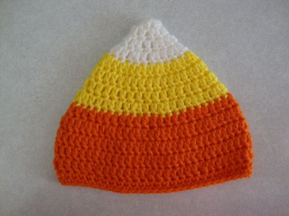 Baby CandyCorn hat Halloween Costume Hat by Yarnhotoffthehook
