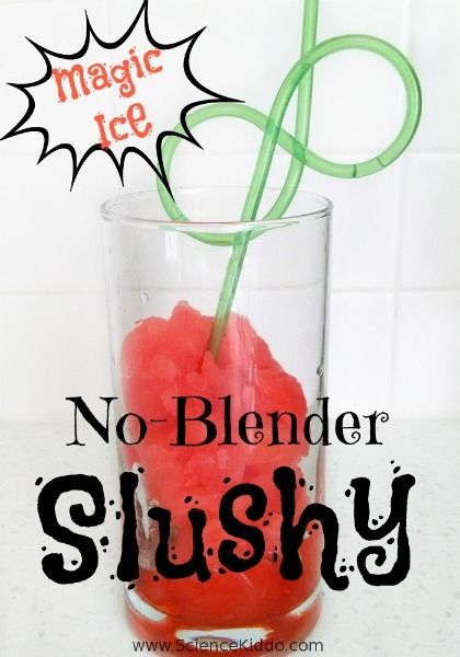 Make your own ice slush drink this summer using simple science! All you need is fruit juice, salt, and ice. Ice slush is the perfect summer treat!