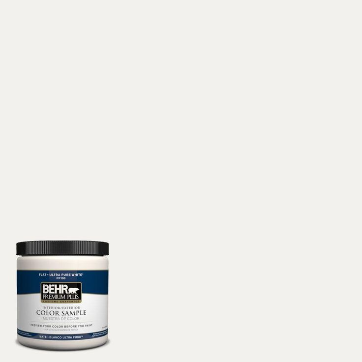 BEHR Premium Plus 8 oz. #W-F-600 Snow Fall Interior/Exterior Paint Sample-W-F-600PP at The Home Depot