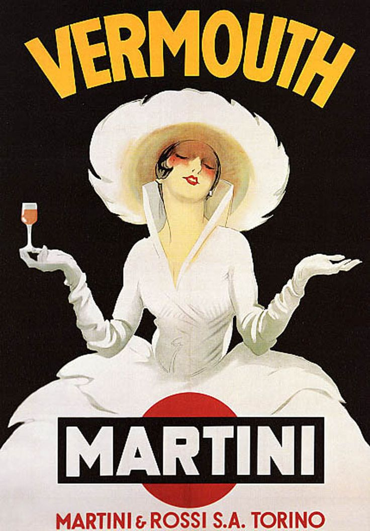"""""""Martini and Rossi"""" by Marcello Dudovich (1878 - 1962), one of Italy's leading poster artists.: Showers, Vintage Posters,  Dust Jackets, Books Jackets, Shower Curtains, Martinis Vintage,  Dust Covers, Vermouth Martinis,  Dust Wrappers"""