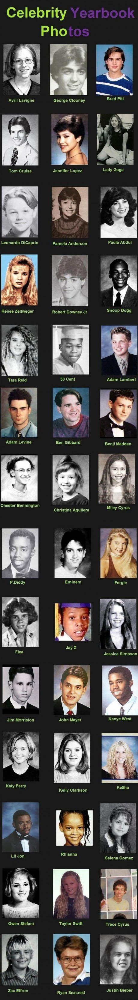 Celebrity yearbook photos.