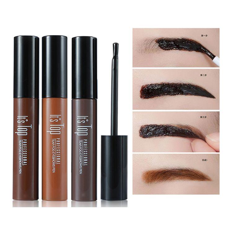 Professional Peel Off Eyebrow Gel WODWOD Brand Korean Makeup Liquid Eye Brow Mascara 3D Eyebrow Tint Cream Tattoo Brow Pen